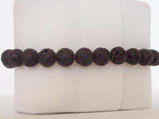 Chevron bracelet 8 MM lava beads