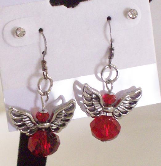 Christmas crystal earrings