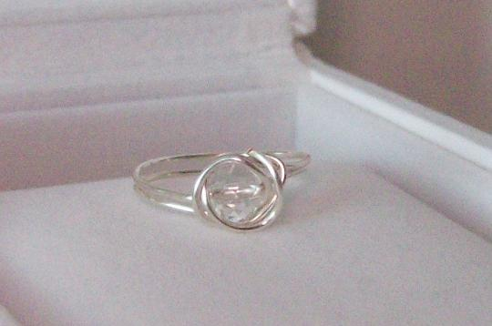 Silver plated 20 gauge wire wrapped ring