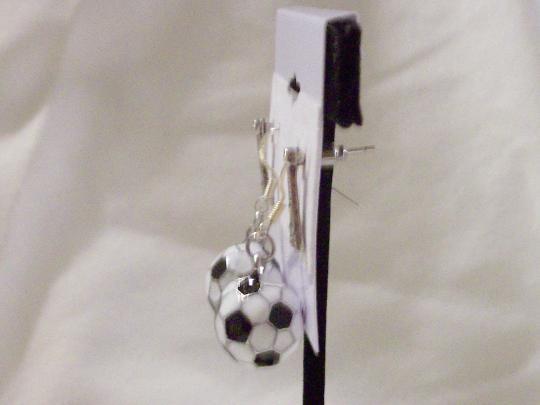 Soccer ball earrings set