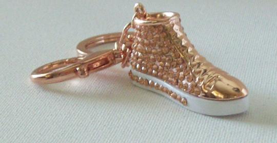 Copper tennis shoe Key chain