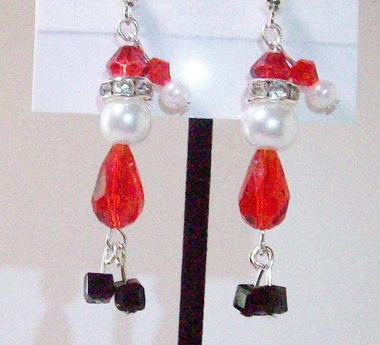Santa Claus Christmas earrings