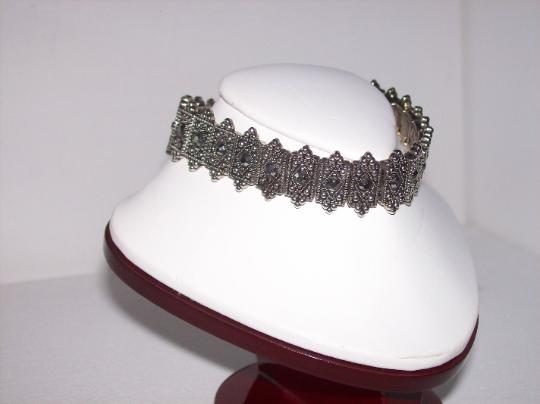 Marcasite stretch bracelet fits any size wrist