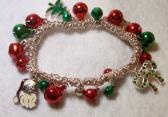 Christmas Holiday stretch bracelet