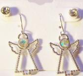 Angel earrings with stud earrings