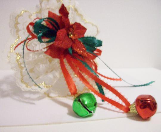 Christmas lace ornament