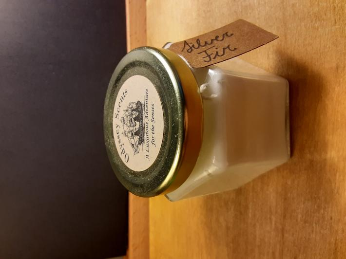 4oz Soy Container Candle Silver Fir