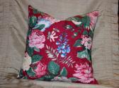 Ruby Barkcloth Pillow