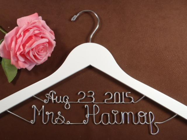 Custom Wedding Hanger with Date