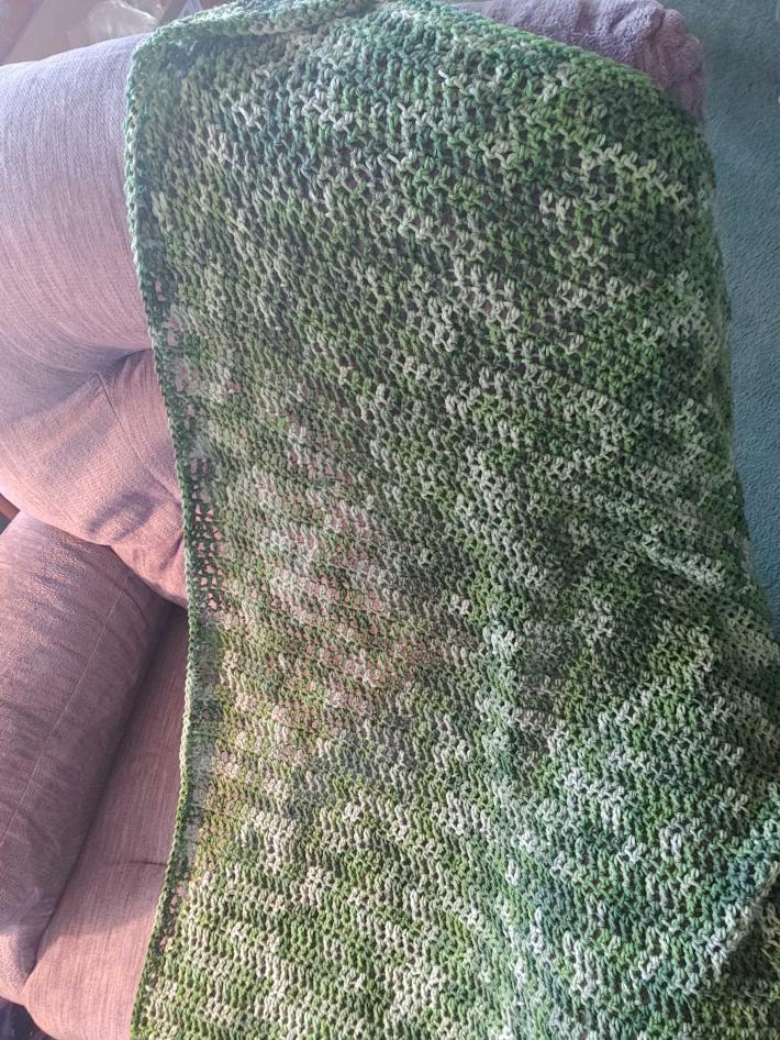 Lapghan wheelchair blanket greens
