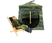 Camouflage Toy Pop Up Tent and 2 Sleeping Bags