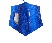 Shades of blue Toy Pop Up Tent and 2 Sleeping Bags with sparkling star print fabric