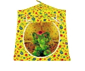 Yellow Toy Pop Up Tent and 2 Sleeping Bags with flower print fabric