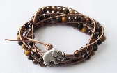 Triple Wrap Tiger Eye Bracelet
