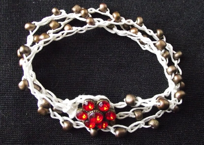 Crochet Irish Linen  Versatile Jewelry