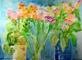 flowers in vases giclee print