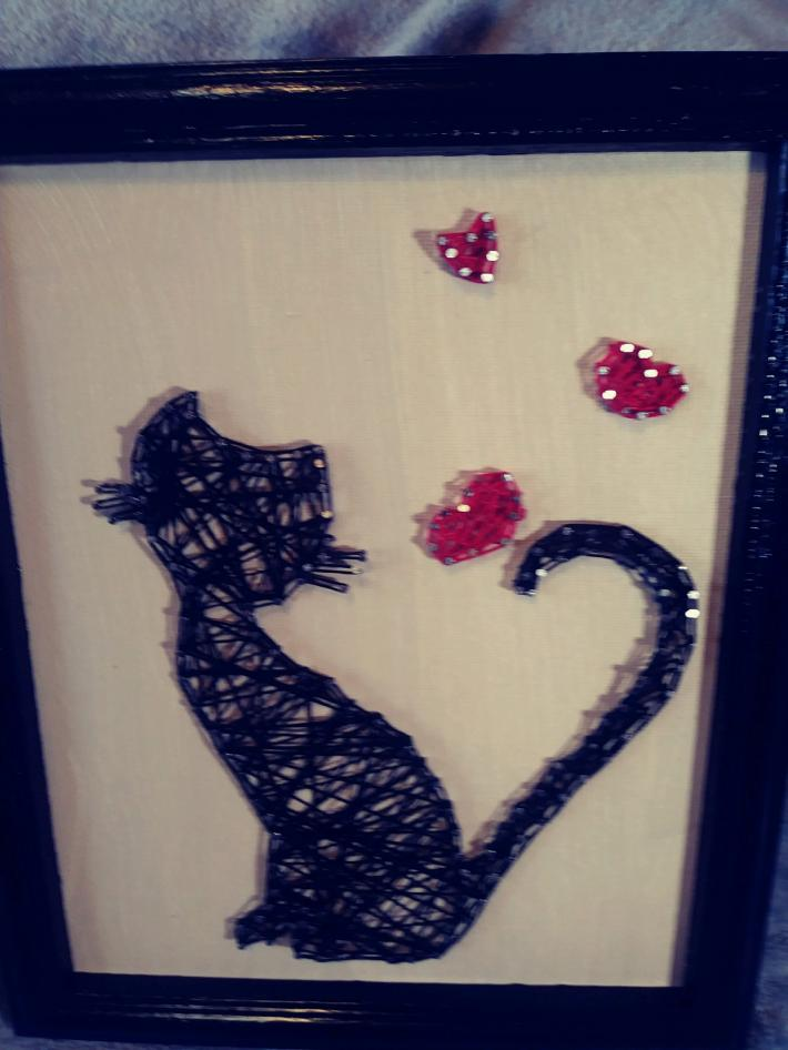 Black Cat String Art 9