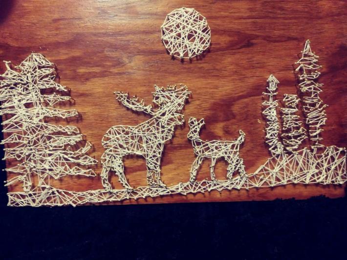 Deer in theWoods String Art 7
