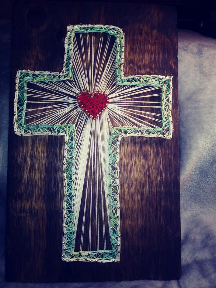 Green and White  Cross  83