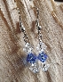 Blue and Clear Swarovski Earrings