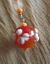 Orangy Orange Flower Accessories Charm