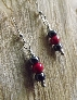 Simple Yet Beautiful Hematite and Red Bead Earrings