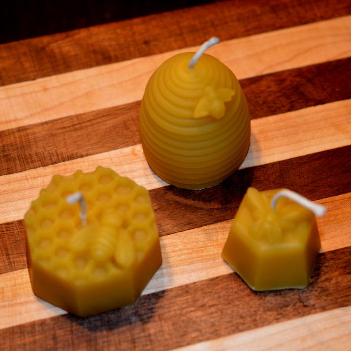 Pure Beeswax Honey Comb Candle