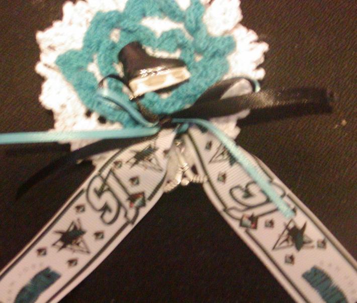 Team Spirit Flower Corsage  HOCKEY