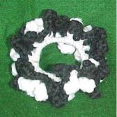 Team Spirit 2 Tone Hair Scrunchie or Ponytal Holder