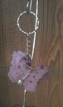 LIGHT Purple Butterfly with Emergency Extra Spoon for Chronic Pain Warriors