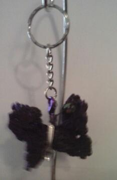 DARK Purple Butterfly with Emergency Extra Spoon for Chronic Pain Warriors