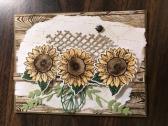 Sunflowers and Ladybug