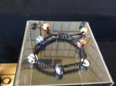Macrame Lampwork Beads Bracelet