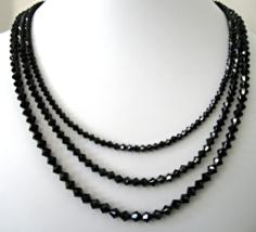 Swarovski Crystals in Basic Black with Large Marcasite Decorative Clasp