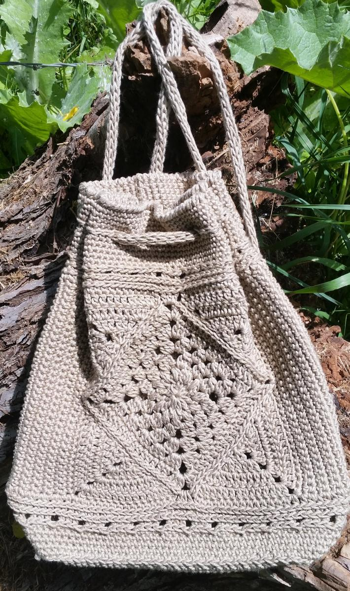 Cotton Crochet Back Pack
