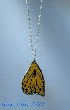 Black and Yellow Butterfly Wing Stained Glass Pendant bfly0032