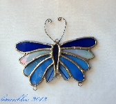 Stained Glass Butterfly Wind Chime sg0035