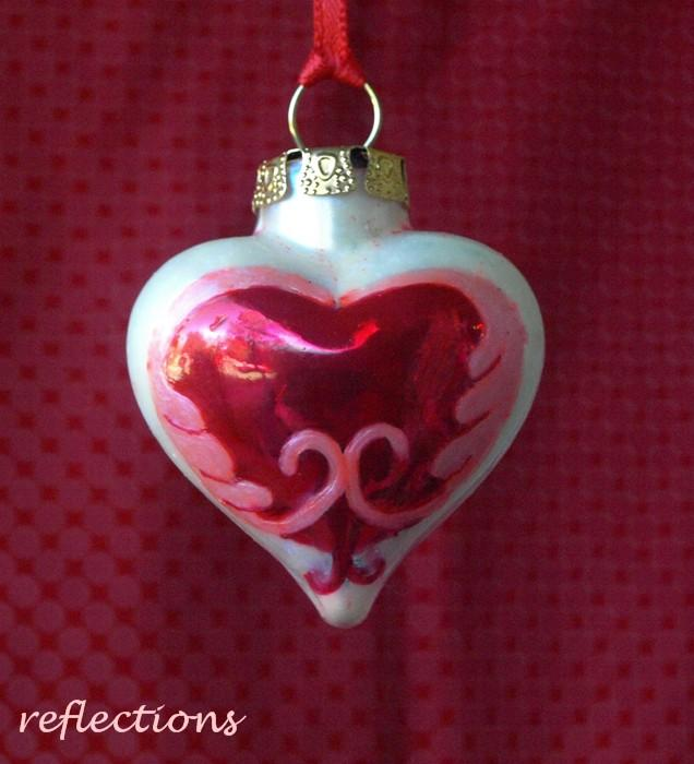 Celtic Heart Valentine Ornament Hand Painted