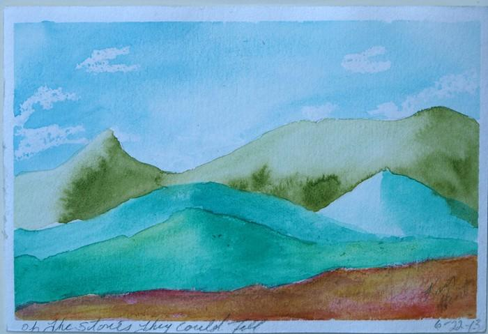 Original Watercolor Landscape Painting Oh The Stories They could Tell