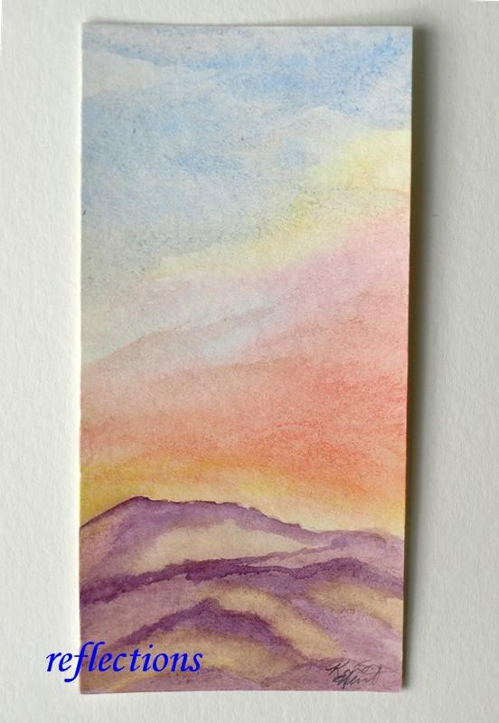 Bright Spots Small Watercolor Painting