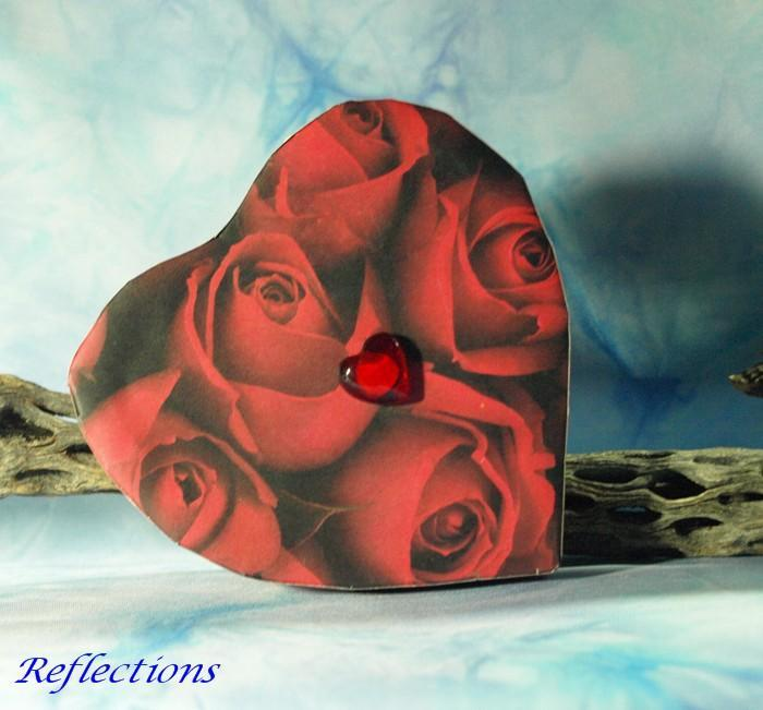 Art Nouveau Stained Glass Heart Valentine