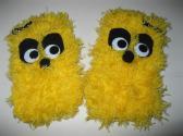 Fingerless Gloves Crochet Monster Mitts in Yellow for Girls