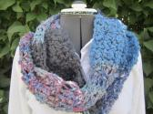 Infinity Scarf Crochet Mulit Colored Ready to Ship I2