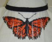 Necklace or Choker Orange Fringe Butterfly NE13