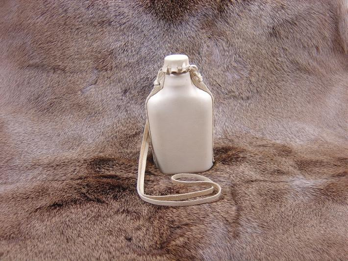 Rustic Leather Covered Flask UI18