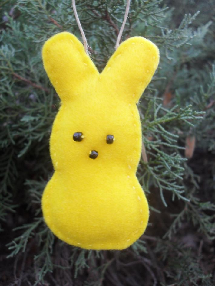 6 Handmade Easter Bunny Basket and Tree Ornaments