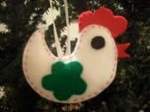 Handmade Rooster Tree Gift and Kitchen Ornament