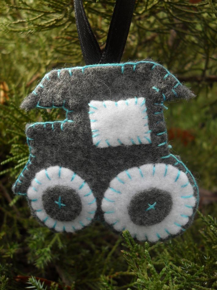 Handmade Felt Train Engine Tree  and Gift Ornament