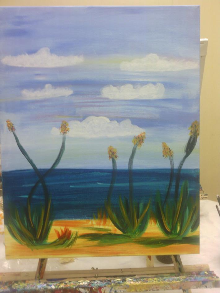 The Beach Acrylic on Canvas