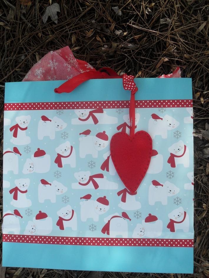 Handmade Felt Heart Gift Tag Set of 3